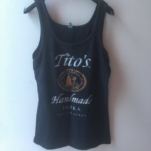Tito's Vodka black tank top